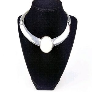 Vtg Signed Ben-Amun Modernist Cuff Necklace EVC